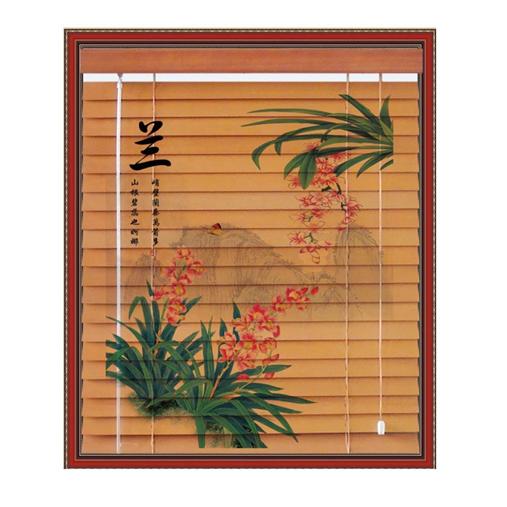 IDWOI ドア 窓 ブラインド 竹 カーテン 停電 固体 木材 できる リフト 日焼け止め シェード ホーム 事務所 寝室 多機能 、 3つのスタイル 、 23サイズ (色 : C, サイズ さいず : 135X175CM) 135X175CM C B07PLFFLDP