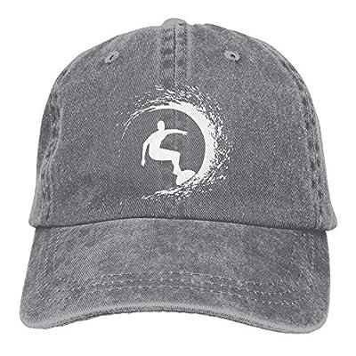 Denim Baseball Cap Silhouette of The Surfer Women Snapback Caps Adjustable Dad Hat