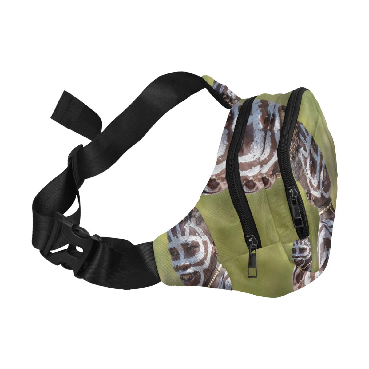 Men Wear Traditional Clothes With Paints On Their Faces Fenny Packs Waist Bags Adjustable Belt Waterproof Nylon Travel Running Sport Vacation Party For Men Women Boys Girls Kids
