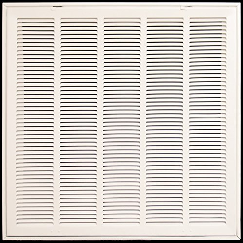 40'' X 20 Steel Return Air Filter Grille for 1'' Filter - Removable Face/Door - HVAC DUCT COVER - Flat Stamped Face - White [Outer Dimensions: 42.5''w X 22.5''h] by HVAC Premium