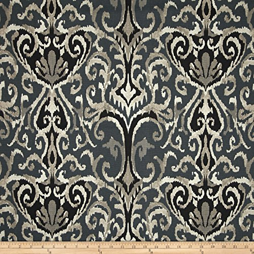 Magnolia Home Fashions Winchester Ikat Fabric by the Yard, Midnight