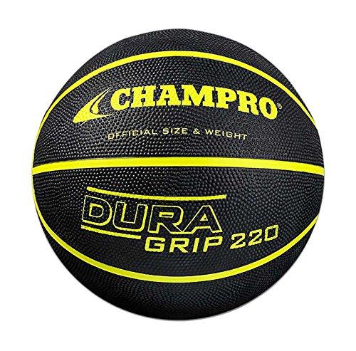 CHAMPRO Rubber Basketball, Optic Yellow, Size 28.5 ()