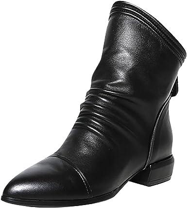 New Ladies Womens Fabric Pointed Toe Smart Block Heel Ankle Calf Hi Black Boots