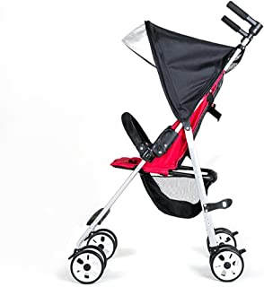 JIANXIN Baby Stroller Is Super Portable And Easy To Fold Baby Cart Pocket Car Pocket Car Portable Berry Red. (Color : RED)