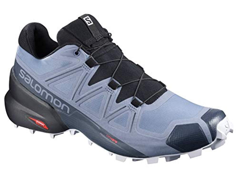 Salomon Men's Speedcross 5 Trail Running Shoes, FLINT STONE/Black/India Ink, 10.5 by Salomon