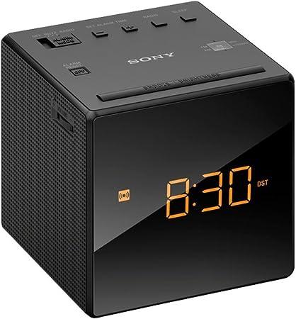Sony ICF-C1B Uhrenradio schwarz Analogtuner für UKW//MW LED-Display