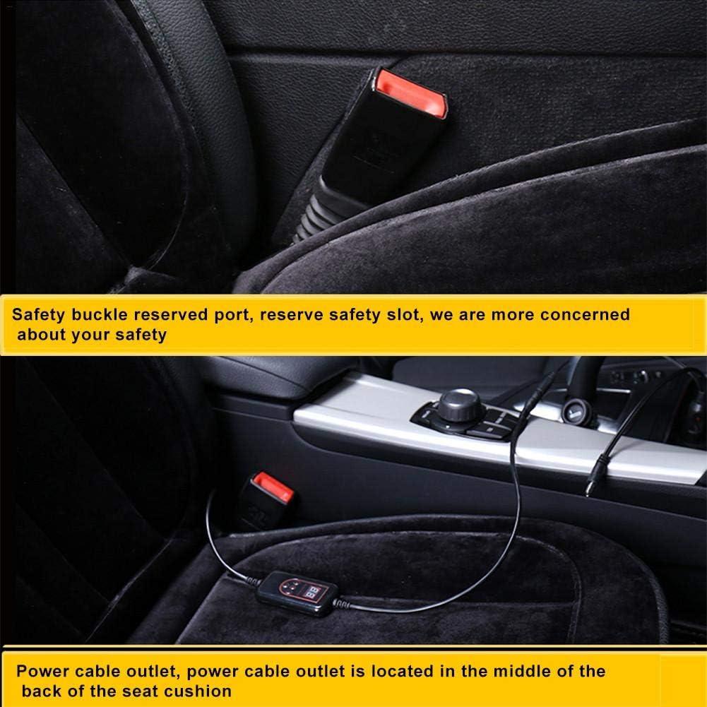 Zeitschaltuhr Multifunktionale Auto-Sitzheizung beheiztes Kissen AUTOECHO Auto-Sitzkissen intelligente Temperaturregelung 12V beheizter Sitzkissenbezug