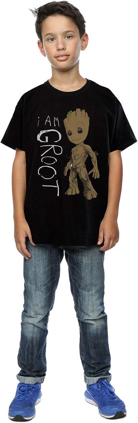 Marvel Bambini e ragazzi Guardians of the Galaxy I Am Groot Scribbles Maglietta