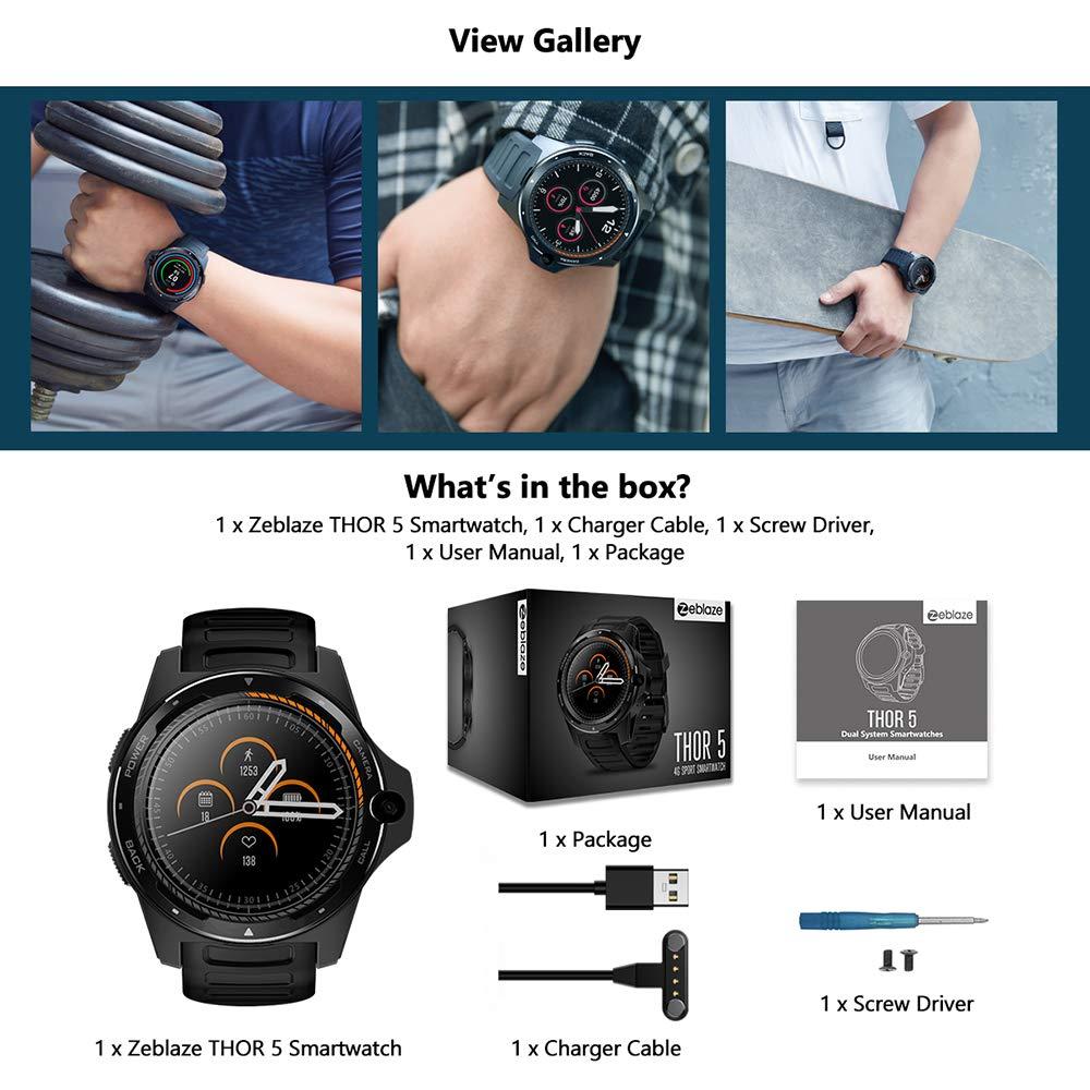 Zeblaze Thor 5 Smartwatch 4G LTE Smart Watch Sistema Dual 8.0MP Cámara Frontal 2GB +16 GB Memoria 1.39