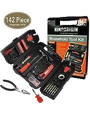 KIngOrigin 142-teiliges Profi-Multi-Werkzeug-Set HeimReparatur-Werkzeug-Set, Werkzeugset, Heimreparatur-Werkzeug