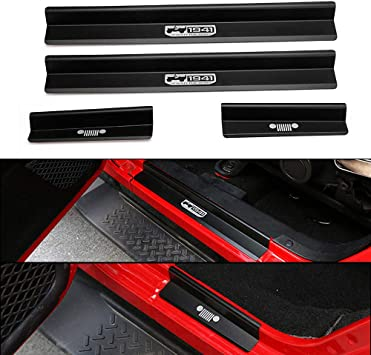 Kool Parts 4 x Door Sill Scuff Plate Guards