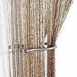 "Gold/Silver Fleck Spaghetti String Door/Curtain Panel 38"" x 79"" (100cm x 200cm)"