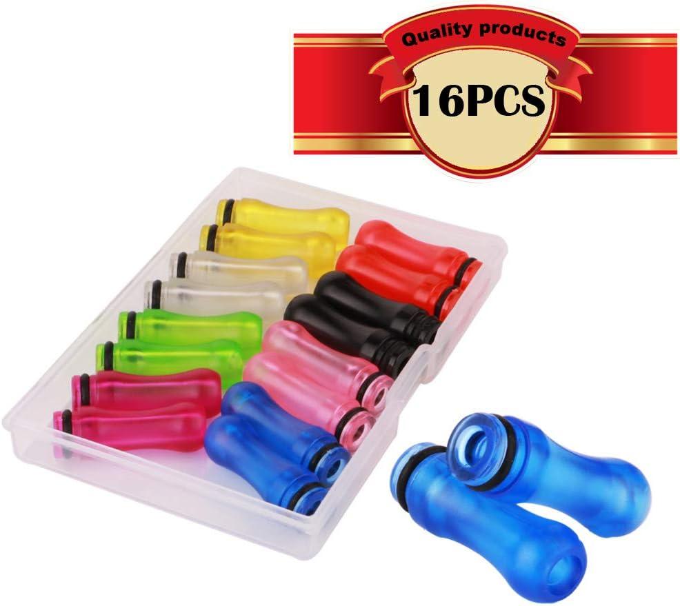 CESFONJER16 Pcs 510 Puntas de goteo de plástico 510 Boquillas 28 mm Longitud (mezcla de 8 colores)