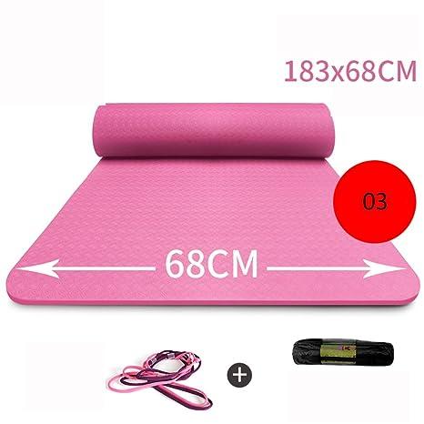 Yoga 183 * 68 cm Deportes y Fitness Mat (Color : Pink ...