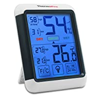 amiciKart Thermopro TP55 Digital Thermometer Hygrometer with Touchscreen, Backlight, Temperature and Humidity