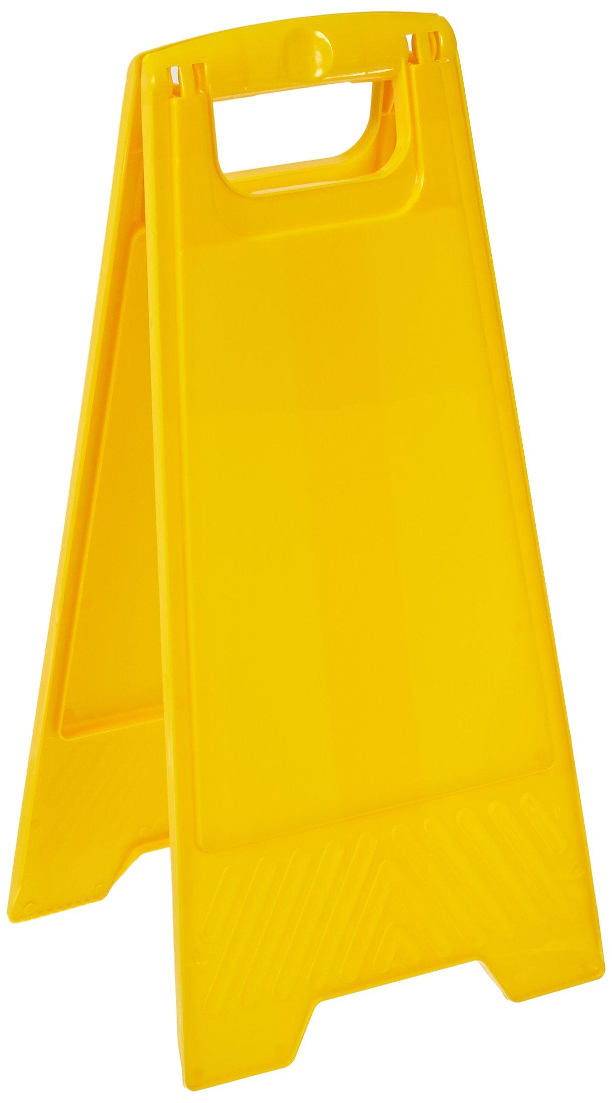 Brady 104808 24-1/2'' Height, Yellow Color Polypropylene Heavy Duty Floor Stand, Legend''Blank Yellow''