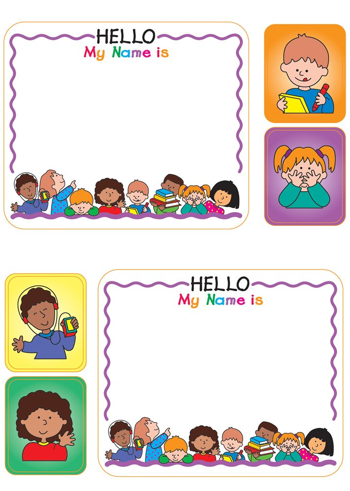 kids name tags school specialty publishing 9780768232554 amazon