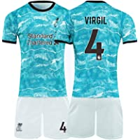 Voetbal shirt 4# Virgil Van Dijk Voetbal Pak, Volwassen, Kind Trainingspak, Ademende Sport Korte Mouwen, Standaardmaat…