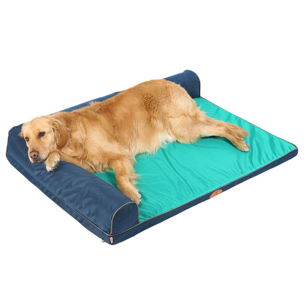 Green 12089cm Green 12089cm Pet Sofa Pet bed, kennel, Bite resistant waterproof mat, Large dog Husky golden Retriever big dog sofa (color   Green, Size   120  89cm)