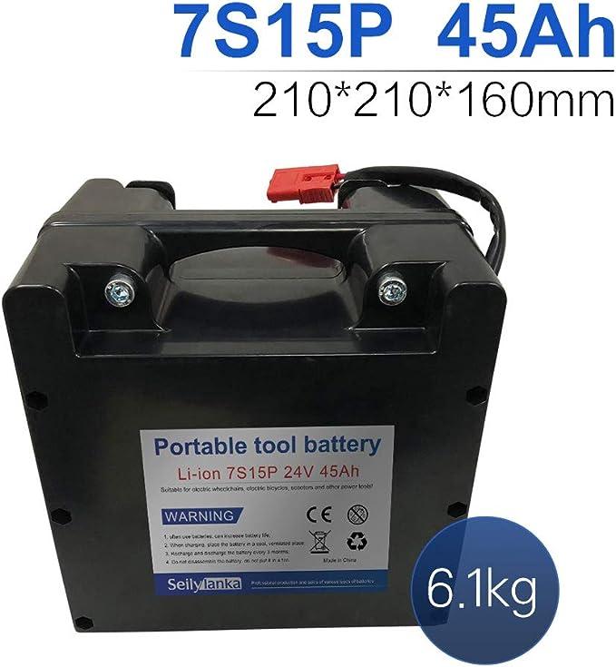 24V 45Ah 7S15P Li-ion batería dedicada a sillas de ruedas ...