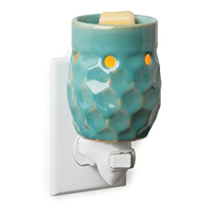Candle Warmers Etc. Pluggable Fragrance Warmer, Honeycomb Turquoise
