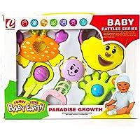 طقم شخاليل للأطفال الرضع، متعددة الألوان، مختلفة الأشكال، 5 قطع