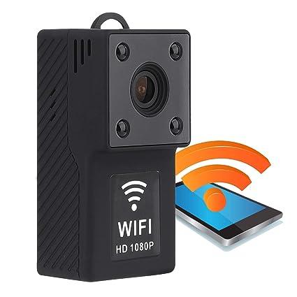 Cámara de acción Cop CAM 1080P, Mini cámara espía WiFi, Oculto niñera CAM no