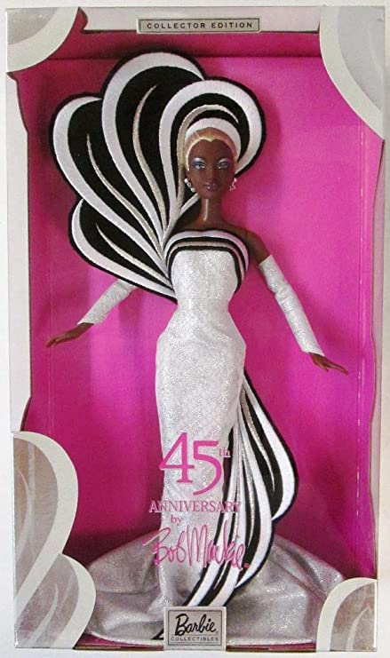 Amazon.com: 45th Anniversary Barbie By Bob Mackie African American ...
