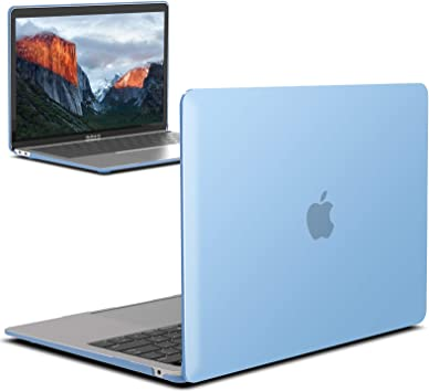 Airy Blue MMA-T13ARBL+1 IBENZER MacBook Air 13 Inch Case 2020 2019 2018 New Version A1932 Hard Shell Case with Keyboard Cover for Apple Mac Air 13 Retina with Touch ID