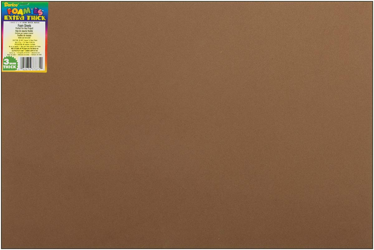 Darice Foamies Foam Sheet Brown 3mm Thick 12 X 18 Inches (12 Pack) by Generic (Image #1)