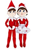The Elf on the Shelf: A Christmas Tradition - Blue Eyed Boy and Blue Eyed Girl Plushee Pals Set