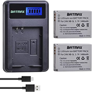 ti 950 Recambio batería BATTERY para Canon nb-5l is 860 is 870 is 900 is 960