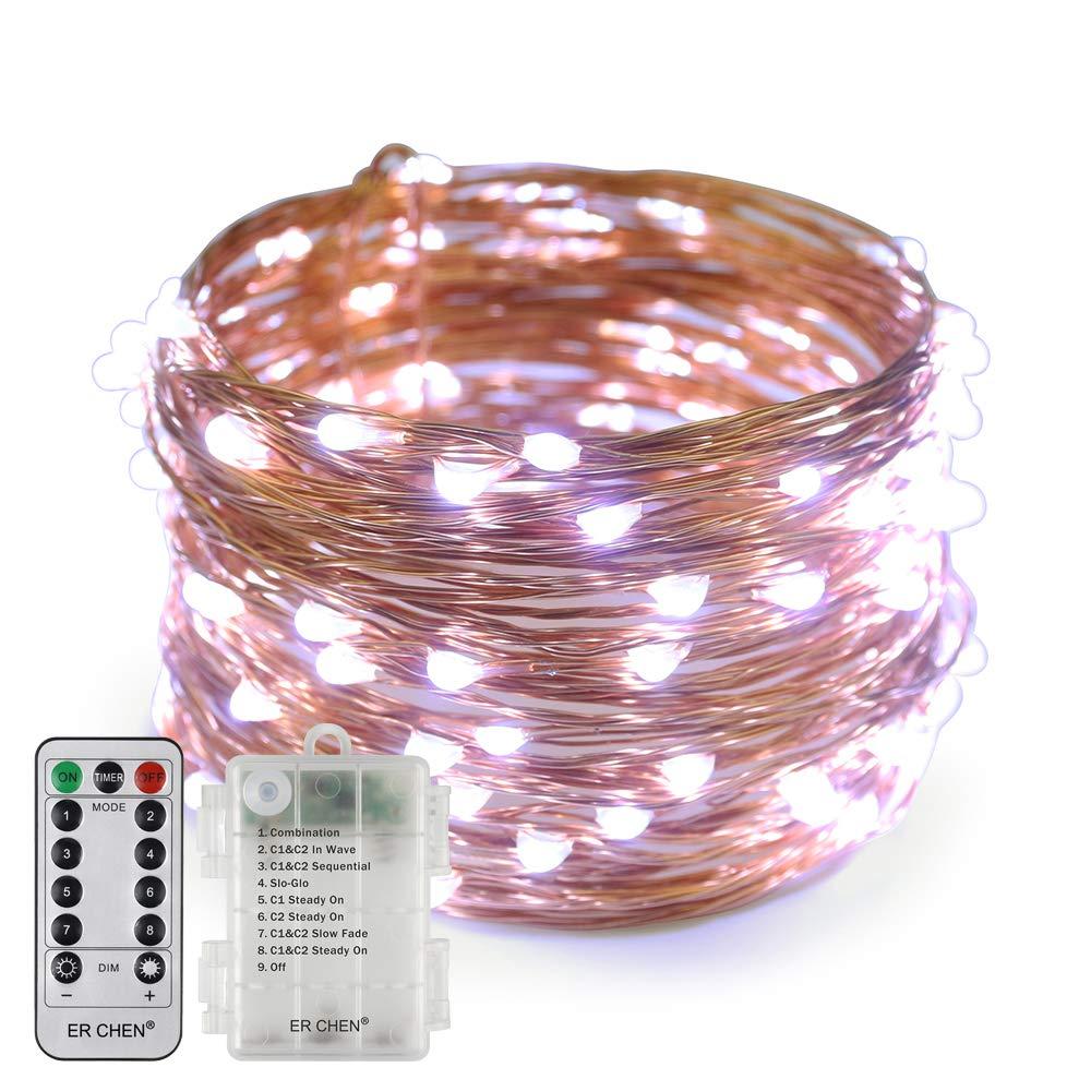 66 FT 200 LED 20M dimmbare Kupfer Draht Lichterketten mit Fernbedienung 8 Modi Timer f/ür Innen Au/ßen Weihnachten Party Erchen Batteriebetrieben LED Lichterkette warmwei/ß