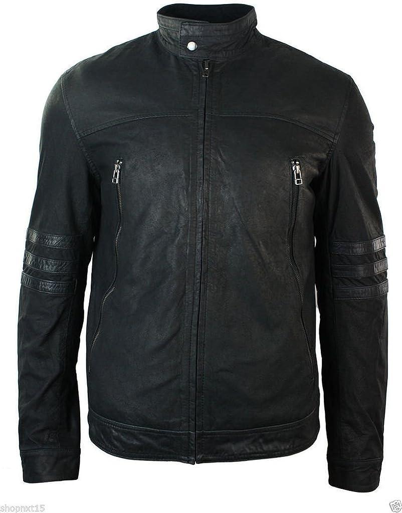 Mens Stylish Fashionable Slim Fit Lambskin Leather Jacket LT908