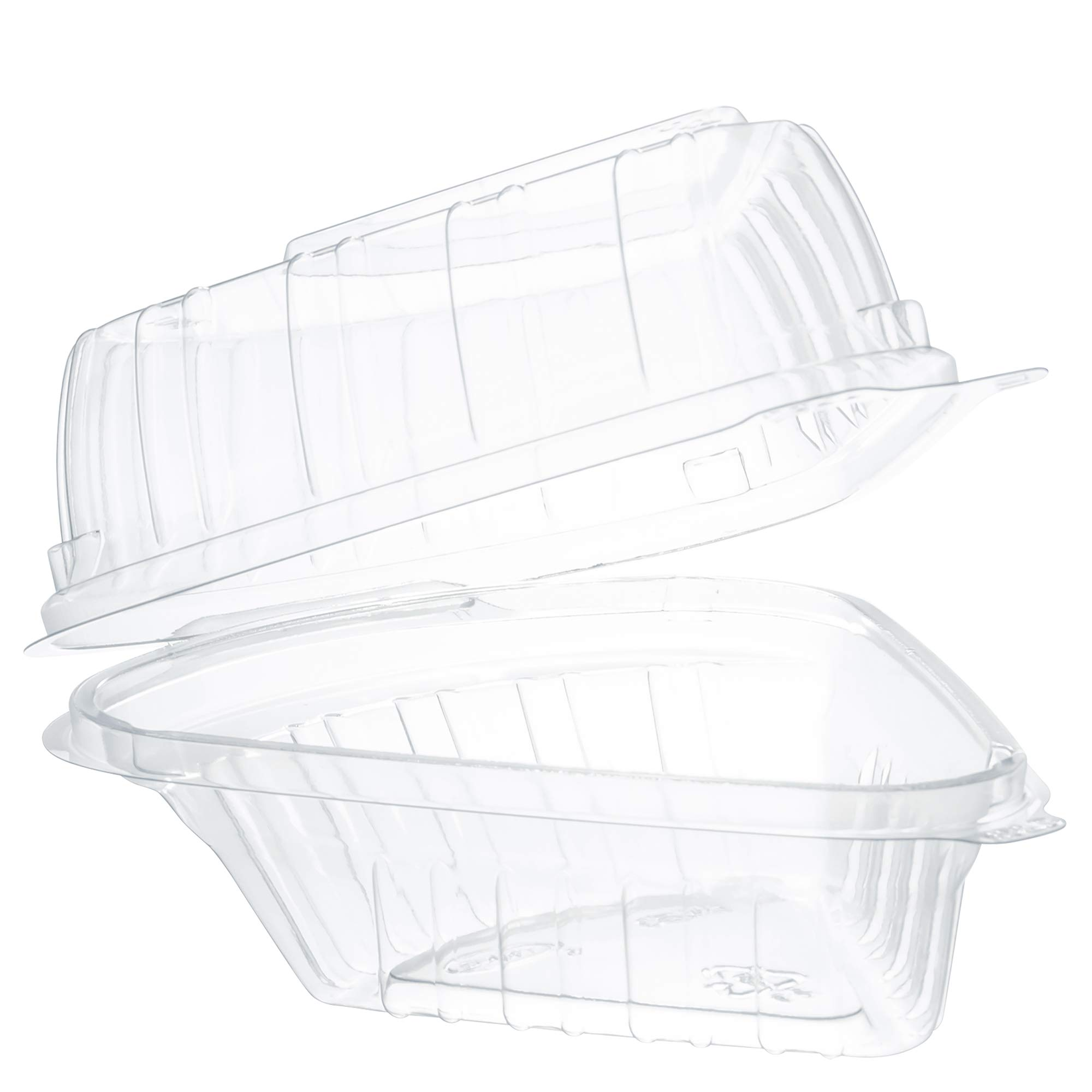 Dart C54HT1 Pie Wedge Clear Hinged Container, 5.6 X 6.1 in (Case of 250) by DART