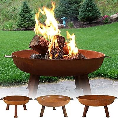 Sunnydaze Rustic Cast Iron Fire Pit Bowl