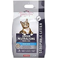 Trouble and Trix Baking Soda Clumping Scoopable Cat Litter, 7Kg / 7 Liter (AQ105)
