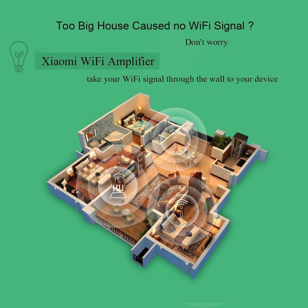 Original XIAOMI WiFi Amplifier 2, WiFi Repetidor 2 Amplificador Extender 2 Universal repitidor USB Extender 300 Mbps 802.11 N Wireless WiFi extende Señal: ...