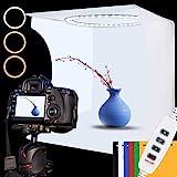 Photo Studio Light Box Kit, 12inch x 12inch Photography Adjustable Light Box with 80pcs SMD LED Beads, Portable Photo Shootin