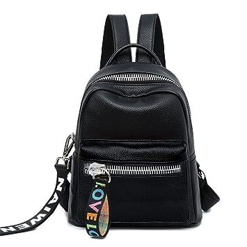 765a261377175 SJMMBB Rucksack Tasche Leder Rucksack Mini Casual und Einfache  Persönlichkeit