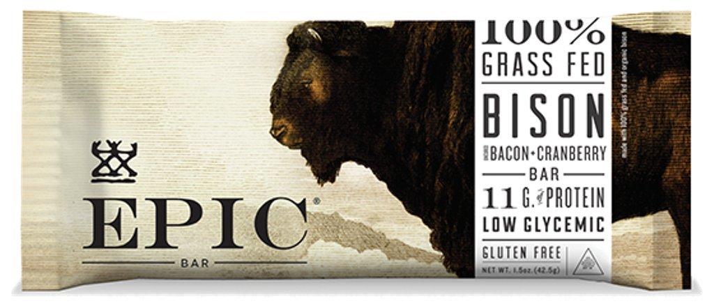 Epic Bison Bacon Cranberry Bar, 1.5 ounces (Box of 12)