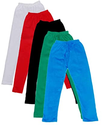-Multiple Colors-15-16 Years Indistar Big Girls Cotton Full Ankle Length Solid Leggings Pack of 3