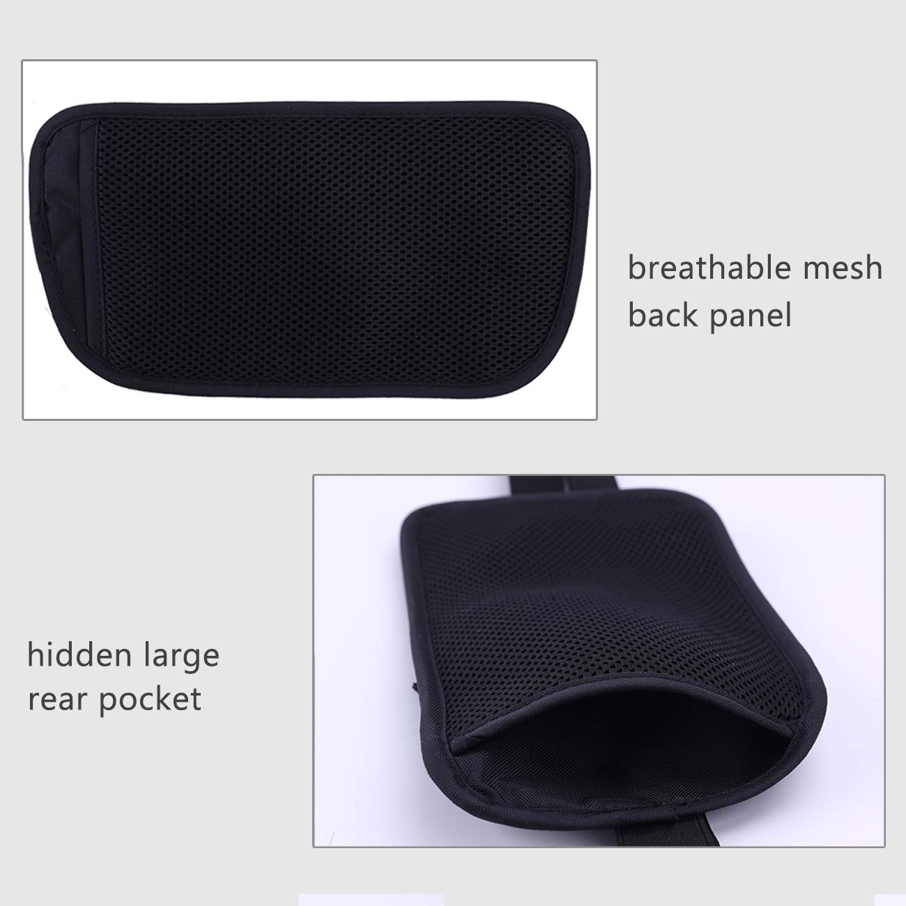 Travel Money Belt Blocking Wallet For Credit Card & Passport Holder With 2pcs RFID Sleeves (Black) by LANNEY (Image #5)