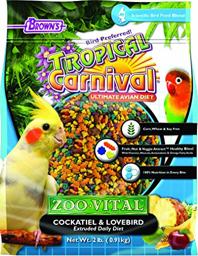 (F.M. Browns - Pet 118562 Tropical Carnival Zoo-Vital Cockatiel & Lovebird , 2 Lb, 1Piece)