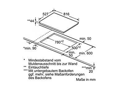 Bosch serie 8 - Placa vitroceramica pkm875dp1d 5 zona 80cm premium