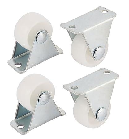 4 x 25 mm Nylon Fijo Mini ruedas – muebles, aparato y equipo