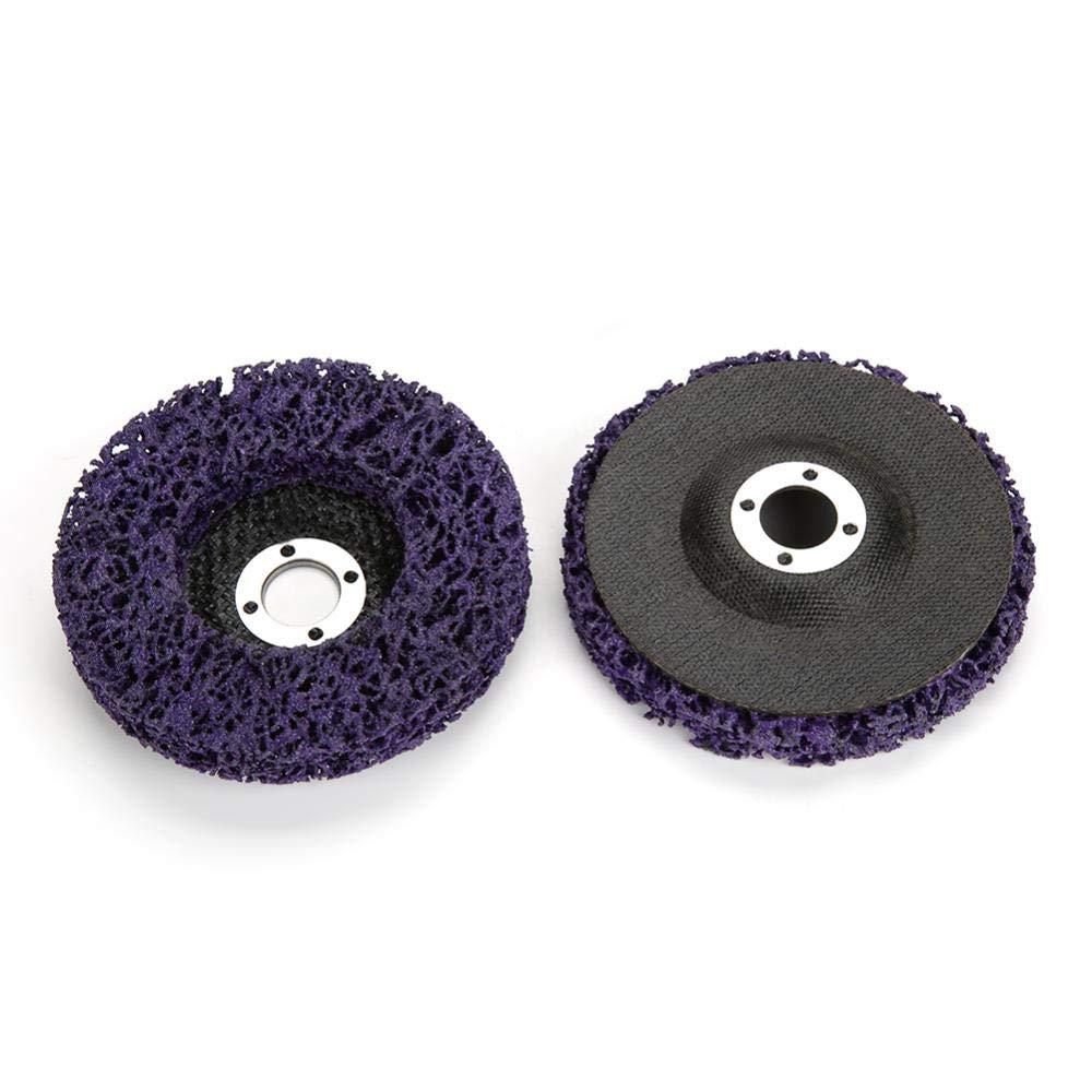 5Pcs 100mm 10000rpm Poly Strip Wheel Disc Clean /& Remove Paint Rust for Angle Grinder Steel//Aluminum//Copper//Plastic//Fiber//Products//Wood//Stone//Concrete