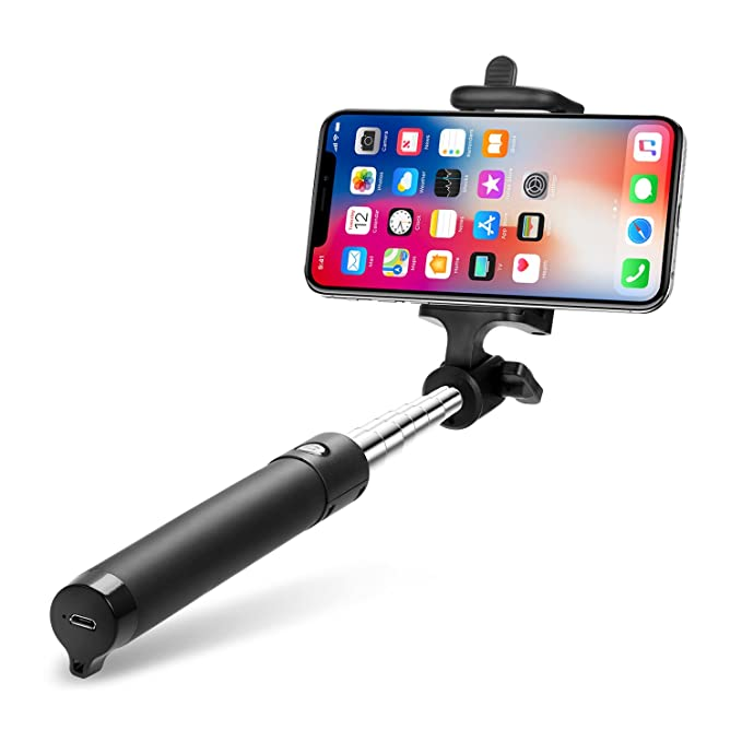 ohne Akku Huawei iPhone LG Android und andere Smartphones Blau Aeeque Selfiestick Ausfahrbar Tragbare Selfie Stick Selfie-Stangen Selfie Stangen Kabelgebunden Stab f/ür Samsung Galaxy