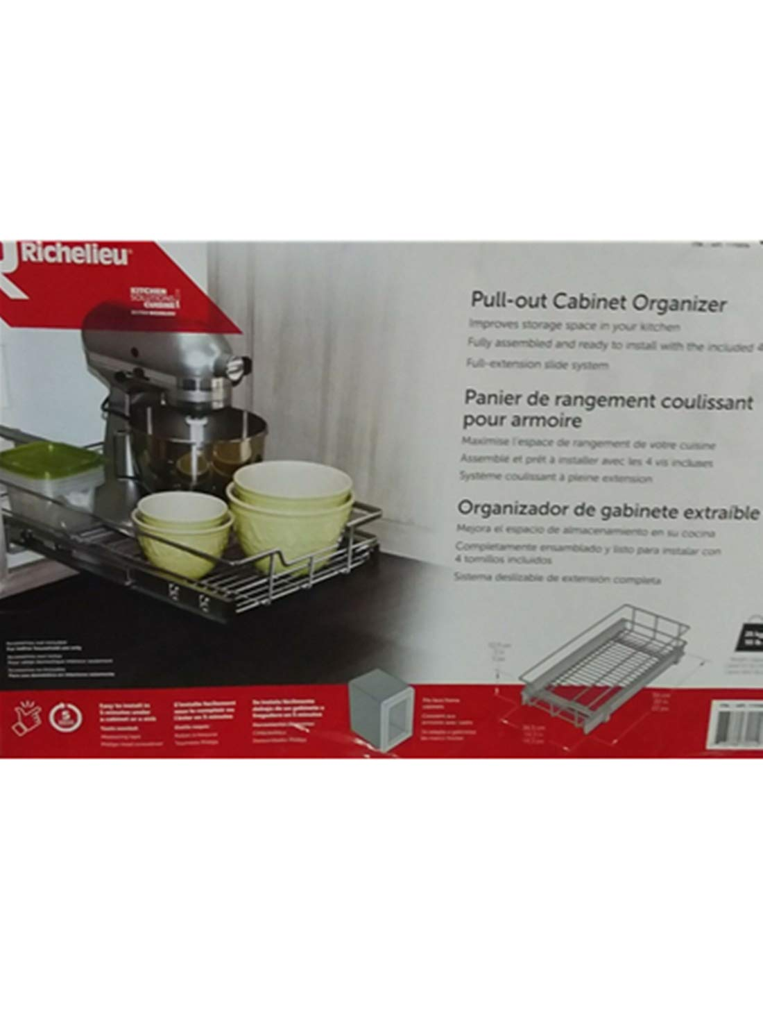 Richelieu Pull-Out Cabinet Organizer by RICHELIEU