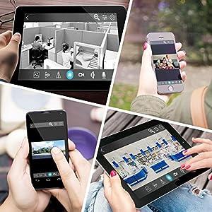 Dericam 720P HD WiFi Pan/Tilt IP Camera (1.0 Megapixel) Indoor Wireless Security Camera (Black), Plug & Play, 4x Digital Zoom, Two-Way Talk & Nightvision